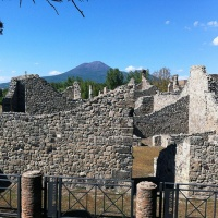 Vesuvius view from Pompeii Ruins